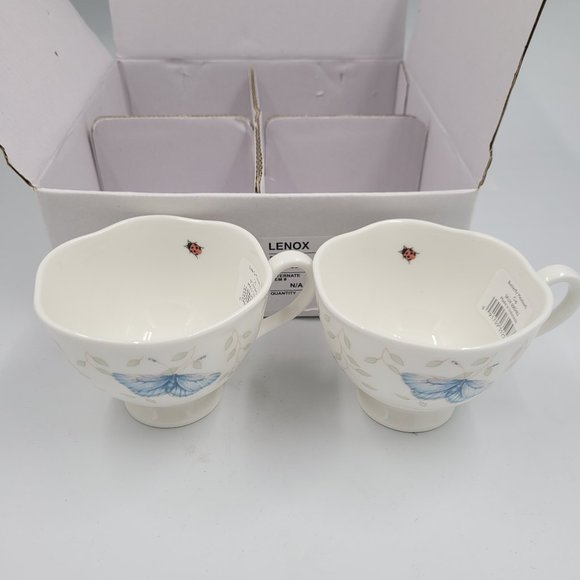Lenox Butterfly Meadow Porcelain Tea Cup, White/